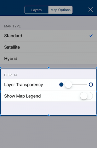 Layer transparency